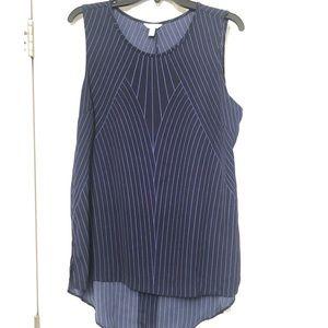 Calvin Klein Pinstripe Sleeveless Blouse